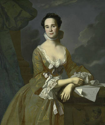 Mrs Daniel Hubbard  Art Print by John Singleton Copley