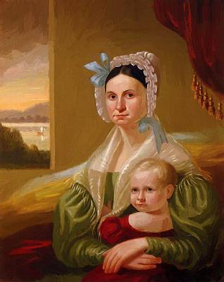Steele Painting - Mrs David Steele Lamme And Son William Wirt 1837 by Bingham George Caleb