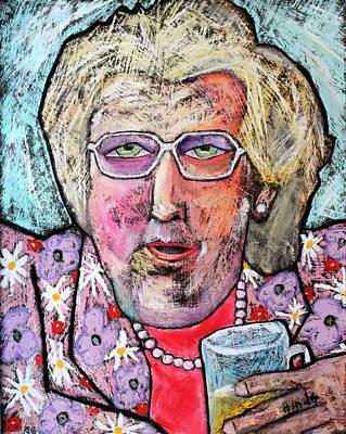 Folk Art Drawing - Mrs Doubtfire by David Hinds