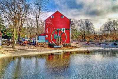 Smithville New Jersey Gristmill  Art Print by Geraldine Scull
