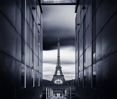 Paris Photograph - Mrs Eiffel by Charly Lataste
