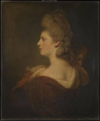 Woman Painting - Mrs Fox by Joshua Reynolds