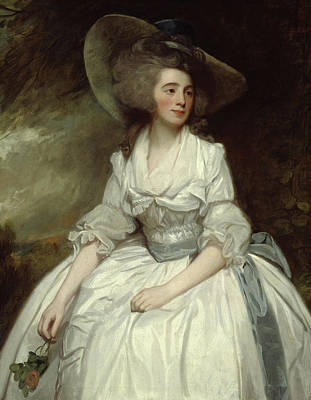 Mrs Francis Russell Art Print by George Romney