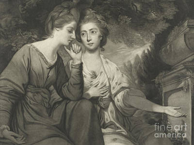 Drawing - Mrs Harriet Bouverie And Mrs Frances Ann Crewe by Joshua Reynolds