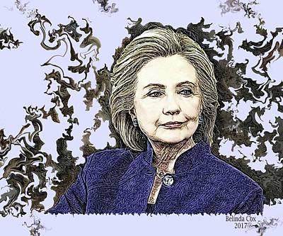 Hillary Clinton Digital Art - Mrs Hillary Clinton by Artful Oasis