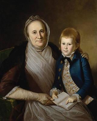Mrs. James Smith And Grandson Art Print