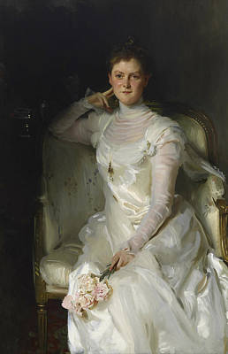 Mrs Joshua Montgomery Sears Art Print by John Singer Sargent