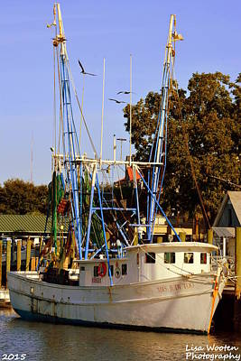 Photograph - Mrs. Judy Too Shrimp Boat by Lisa Wooten