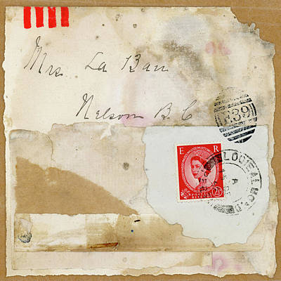 Canadian Mixed Media - Mrs. Laban Collage by Carol Leigh