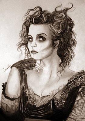 Sweeney Todd Drawing - Mrs. Lovett by Daniela Art