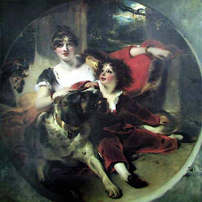 Digital Art - Mrs Maguire And Her Son Bgg by Sir Thomas Lawrence