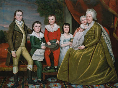 Painting - Mrs. Noah Smith And Her Children by Ralph Earl