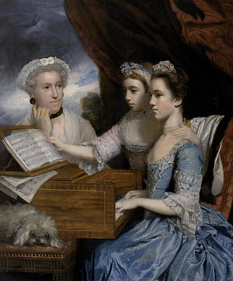 Sheet Music Painting - Mrs Paine And The Misses Paine by Sir Joshua Reynolds