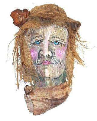Caricatures Mixed Media - Mrs. Palmer The Yuppie by Ellen Burns
