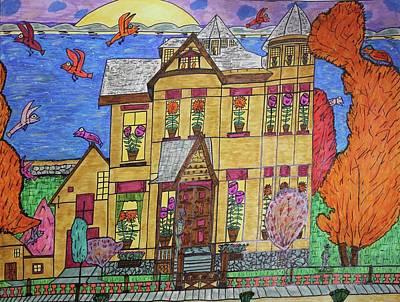 Mrs. Robert Stephenson Home. Art Print