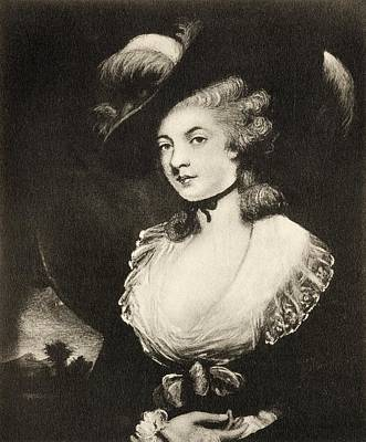 Reynolds Drawing - Mrs Robinson After Sir Joshua Reynolds by Vintage Design Pics