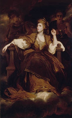 Painting - Mrs Siddons As The Tragic Muse by Joshua Reynolds