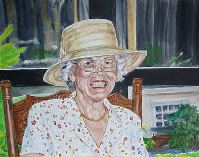 Painting - Mrs Spencer by Bryan Bustard