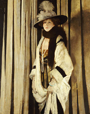 Portaits Painting - Mrs St George by Sir William Orpen