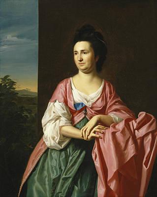 Singleton Painting - Mrs. Sylvester Gardiner by John Singleton Copley