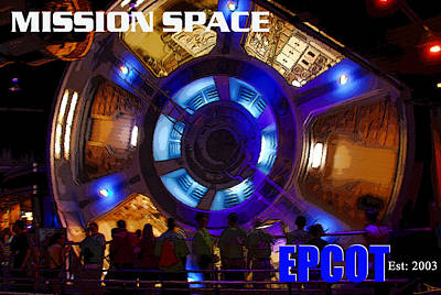 Painting - Mission Space Ride Epcot by David Lee Thompson