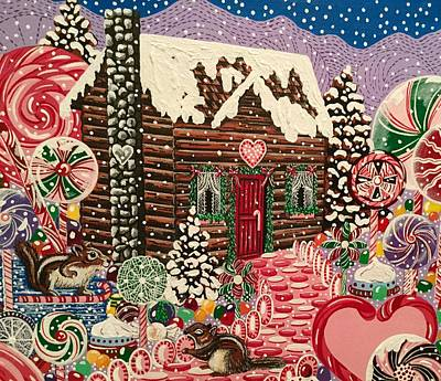 Painting - Ms. Elizabeth's Christmas Cabin by Jennifer Lake