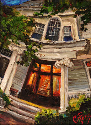 Downtown Huntsville Painting - Ms Felkers Home by Carole Foret