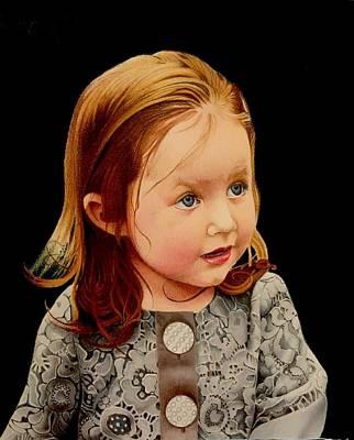 David Hoque Drawing - Ms Josie by David Hoque