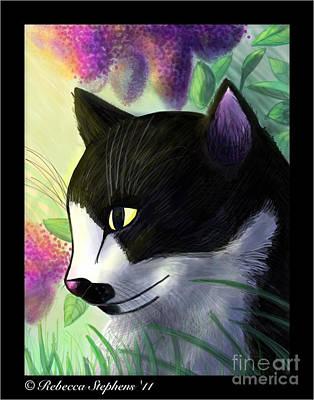 Ms Kitterz  Print by Rebecca Stephens