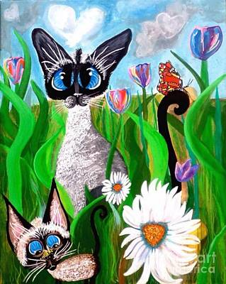 Ms Lily Momma Bonnie The Butterfly Art Print by Mary Sisson