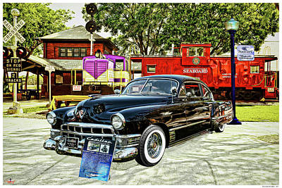Old Caboose Mixed Media - Ms Liz The 49 Cadillac by Rogermike Wilson