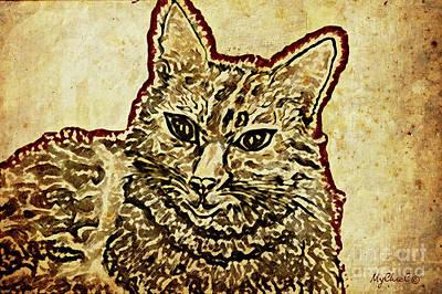 Pedigree Art Digital Art - Ms Lotte Cat by Art by MyChicC