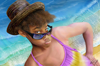 African-american Painting - Ms. Sophie D by Reggie Duffie