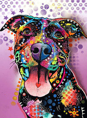Pitbull Wall Art - Painting - Ms. Understood by Dean Russo