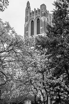 Michigan State Photograph - Msu Beaumont Tower Black And White 3 by John McGraw