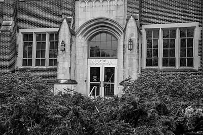 Msu Museum Black And White  Art Print by John McGraw