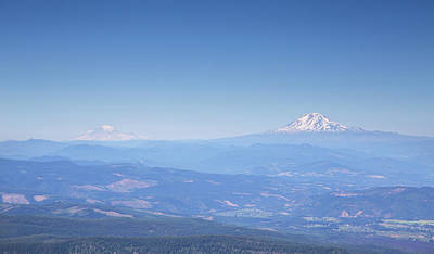 Photograph - Mt Adams And Mt Rainier by Kunal Mehra