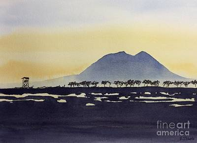 Painting - Mt. Arayat by Barbara Tibbets