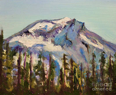 Oregon State Painting - South Sister, Central Oregon by Bonnie Seyford
