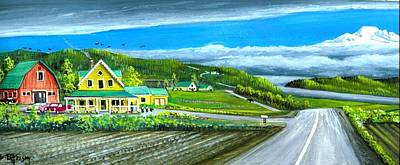 Washington State Skagit County Painting - Mt. Baker And My House by Bob Patterson