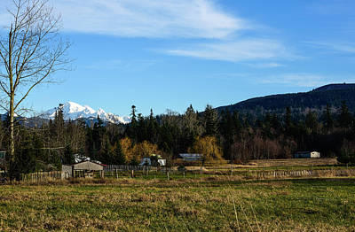Photograph - Mt Baker Farm View by Tom Cochran