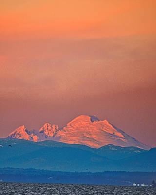 Wa Photograph - Mt Baker From Edmonds Harbor by Alvin Kroon