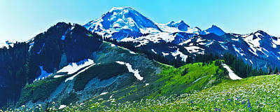 Mt Baker From The Skyline Ridge Trail Print by Alvin Kroon