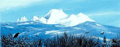 Washington State Skagit County Painting - Mt. Baker In The Winter by Bob Patterson