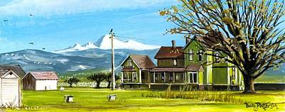 Washington State Skagit County Painting - Mt Baker Victorian Farm House by Bob Patterson