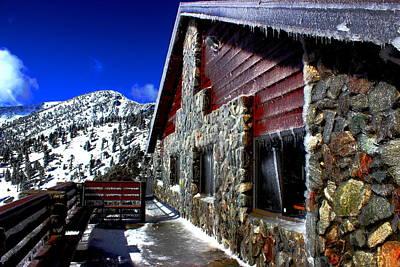 Mt. Baldy - Frozen Art Print by Nick Frazier