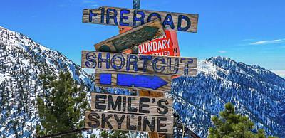 Mt. Baldy Mountain Sign Art Print by Richard Cheski