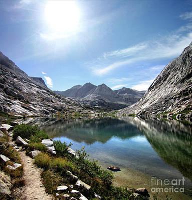 Creative Charisma - Mt Bolton Brown Over Lower Palisade Lake - John Muir Trail by Bruce Lemons