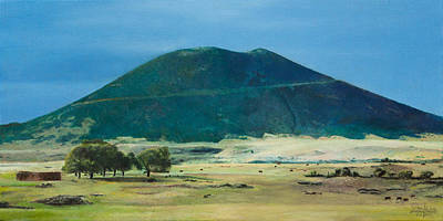 Painting - Mt. Capulin In Summer by Joshua Martin
