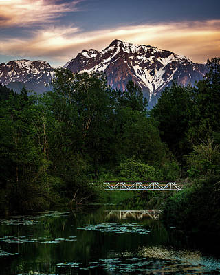 Photograph - Mt Cheam Sunset At Miami Creek by Brad Koop